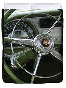 1953 Pontiac Steering Wheel Duvet Cover by Jill Reger