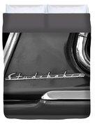 1953 Studebaker Champion Starliner Side Emblem Duvet Cover