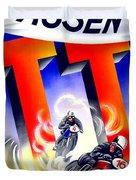 1954 - Assen Tt Motorcycle Poster - Color Duvet Cover