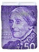 1954-1961 Susan B. Anthony Stamp Duvet Cover