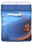 1954 Cadillac Coupe Deville Wheel Emblem - Hood Ornament Duvet Cover