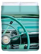 1954 Chevrolet Belair Steering Wheel 3 Duvet Cover