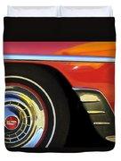 1954 Chevrolet Convertible Wheel Duvet Cover