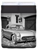 1954 Chevrolet Corvette -183bw Duvet Cover