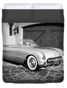 1954 Chevrolet Corvette -203bw Duvet Cover