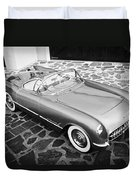 1954 Chevrolet Corvette -270bw Duvet Cover