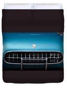 1954 Chevrolet Corvette Grille Emblem -249c Duvet Cover