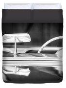 1954 Chevrolet Corvette Steering Wheel -311bw Duvet Cover