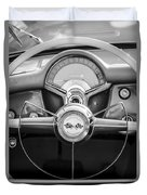 1954 Chevrolet Corvette Steering Wheel -382bw Duvet Cover