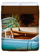 1954 Chevrolet Corvette Steering Wheel -407c Duvet Cover