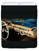 1954 Chevrolet Corvette Steering Wheel -502c Duvet Cover