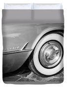 1954 Chevrolet Corvette Wheel Emblem -159bw Duvet Cover