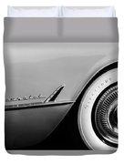 1954 Chevrolet Corvette Wheel Emblem -282bw Duvet Cover