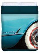 1954 Chevrolet Corvette Wheel Emblem -282c Duvet Cover