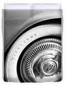 1954 Chevrolet Corvette Wheel Emblem -290bw Duvet Cover