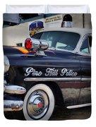 1954 Chevy Dare Police Car  Pine Hill  Nj Duvet Cover