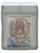 1954 El Salvador Stamp Duvet Cover