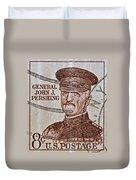 1954 General John J. Pershing Stamp Duvet Cover