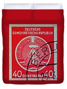 1954 German Democratic Republic Stamp - Berlin Cancelled Duvet Cover