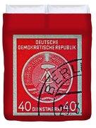 1954 German Democratic Republic Stamp - Berlin Cancelled Duvet Cover