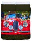1954 Jaguar Xk 120 Se Ots Duvet Cover