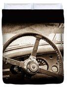 1954 Jaguar Xk120 Roadster Steering Wheel Emblem Duvet Cover