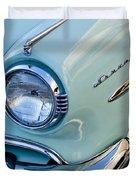1954 Lincoln Capri Headlight Duvet Cover