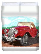 1954 M G T F  Duvet Cover
