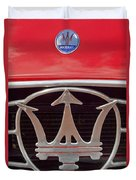 1954 Maserati A6 Gcs Emblem Duvet Cover