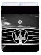 1954 Maserati A6 Gcs Grille Emblem -0259bw Duvet Cover