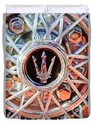 1954 Maserati A6 Gcs Wheel Rim Emblem Duvet Cover