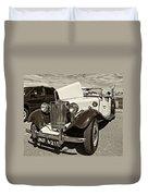 1954 Mg Td Sepia Duvet Cover