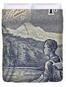 1954 Mount Aspiring New Zealand Stamp Duvet Cover