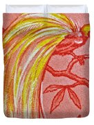 1954 Netherlands New Guinea Paradise Bird Stamp Duvet Cover