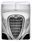 1955 Alfa Romeo 1900 Css Ghia Aigle Cabriolet Grille Emblem -0564bw Duvet Cover