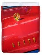 1955 Buick Roadmaster Hood Ornament - Emblem Duvet Cover