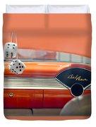 1955 Chevrolet Belair Dashboard Duvet Cover