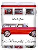 1955 Chevrolet Belair Nomad Art Duvet Cover