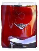 1955 Chevrolet Belair Nomad Emblem Duvet Cover