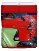 1955 Chevrolet Belair Nomad Taillights Duvet Cover