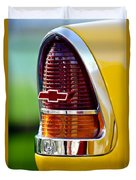 1955 Chevrolet Taillight Emblem Duvet Cover