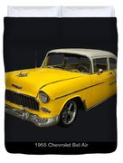 1955 Chevy Bel Air Harvest Gold Duvet Cover