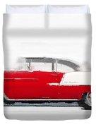 1955 Chevy Bel Air Watercolor Duvet Cover