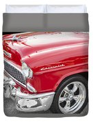 1955 Chevy Cherry Red Duvet Cover