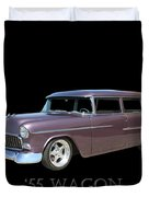 1955 Chevy Handyman Wagon Duvet Cover