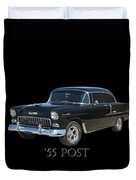 1955 Chevy Post Duvet Cover