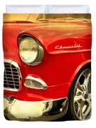 1955 Chevy Red Duvet Cover