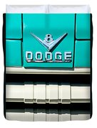 1955 Dodge C-3-b8 Pickup Truck Grille Emblem Duvet Cover by Jill Reger