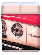 1955 Ford Crown Victoria Fordomatic Emblem Duvet Cover