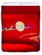 1955 Ford F-100 Pickup Truck Side Emblem -3515c Duvet Cover